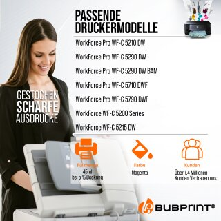 Bubprint Druckerpatrone T9443 L Magenta kompatibel für Epson WorkForce Pro WF-C5210DW Neue Chip Version