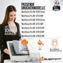 Bubprint Druckerpatrone XL Cyan kompatibel für Epson WorkForce Pro WF-4720DWF WF-4730DTWF Neue Chip Version
