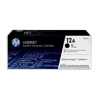 ORIGINAL Q2612AD HP LJ1010 CARTRIDGE (2) BLACK ST