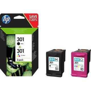 ORIGINAL N9J72AE HP DJ1050 TINTE (2) BLACK+COLOR