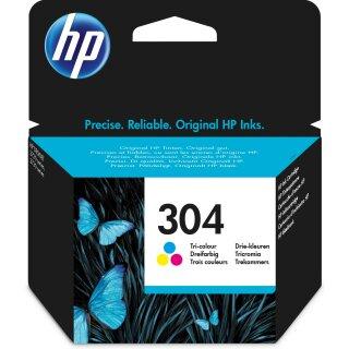ORIGINAL HP Tintenpatrone mehrere Farben N9K05AE 304 ~100 Seiten