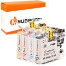 Bubprint 4 Druckerpatronen kompatibel für Brother...