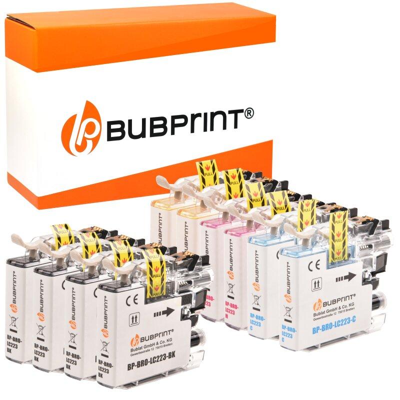 Bubprint 10 Druckerpatronen kompatibel für Brother LC-223 LC-225 LC-227 XL DCP-J 562 DW MFC-J 1140 W