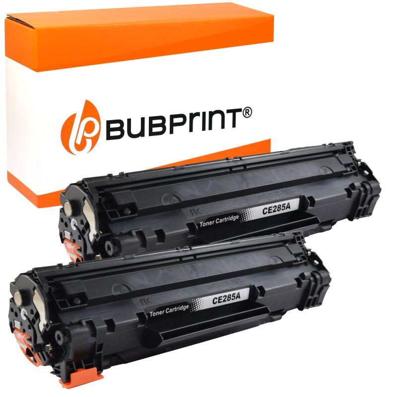 Bubprint 2x Toner black kompatibel für HP CE285A