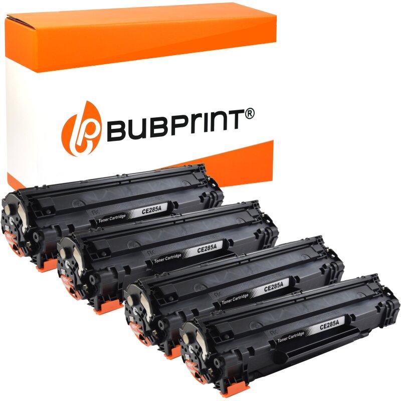 Bubprint 4x Toner black kompatibel für HP CE285A