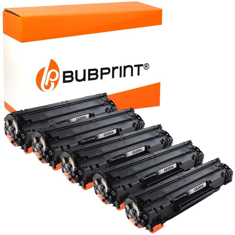 Bubprint 5x Toner black kompatibel für HP CE285A