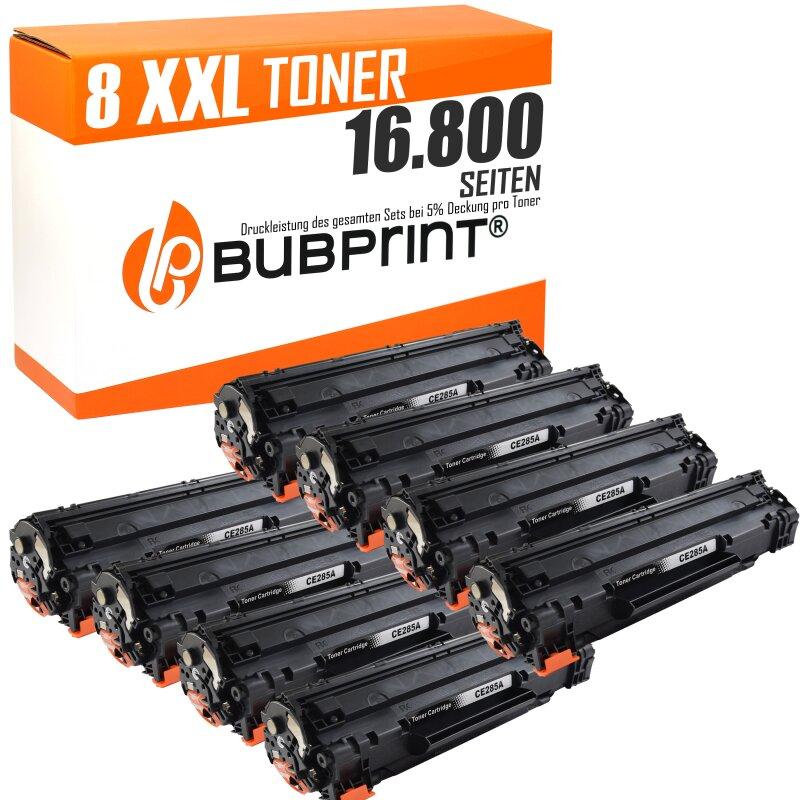 Bubprint 8x Toner black kompatibel für HP CE285A