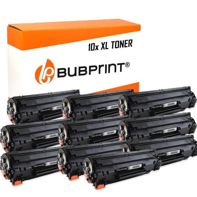 Bubprint 10x Toner black kompatibel für HP CE285A