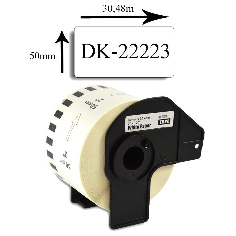 Bubprint Etiketten kompatibel für Brother DK-22223 50mm x 30,48m