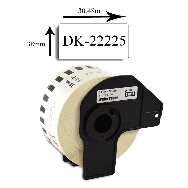 Bubprint Etiketten kompatibel für Brother DK-22225 38mm x 30,48m