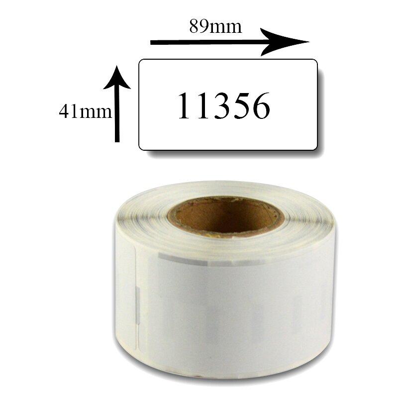 Bubprint Etiketten kompatibel für Dymo 11356 S0722560 89x41mm, weiss