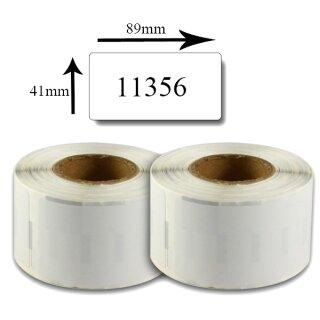 weiss SET 50x Etiketten kompatibel für Dymo 11356 S0722560 89x41mm