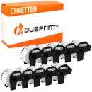 Bubprint 10x Etiketten kompatibel für Brother...