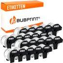 Bubprint 20x Etiketten kompatibel für Brother...