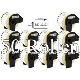 Bubprint 50x Etiketten kompatibel für Brother DK-22223 50mm x 30,48m SET