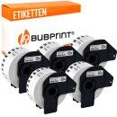 Bubprint 5x Etiketten kompatibel für Brother...