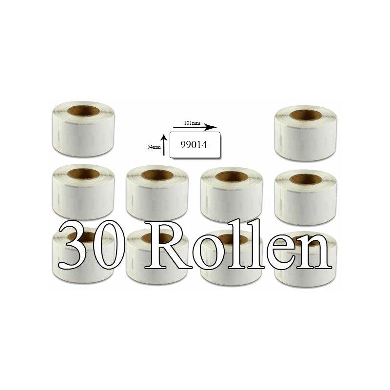 Bubprint 30x Etiketten kompatibel für Dymo 99014 Versand-Etiketten 101x54mm SET