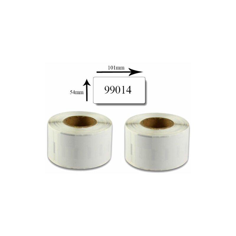 Bubprint 2x Etiketten kompatibel für Dymo 99014 Versand-Etiketten, 101x54mm SET