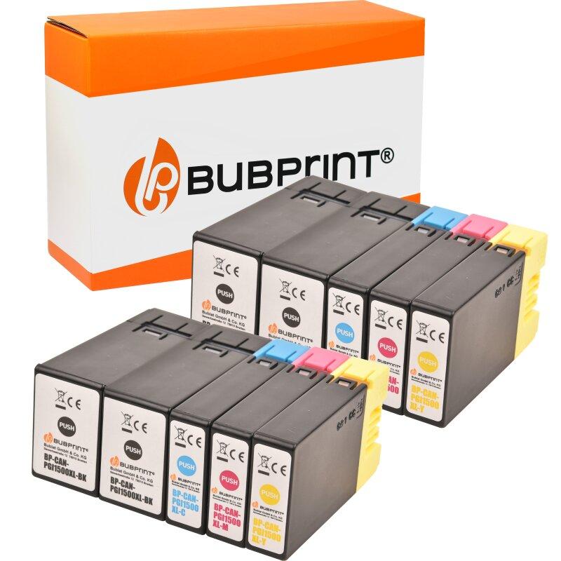 Bubprint 10 Druckerpatronen kompatibel für Canon PGI-1500 XL SET
