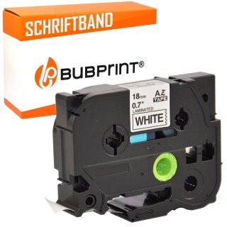 Bubprint Schriftband kompatibel für Brother TZe241 TZe-241 schwarz auf weiß 18mm