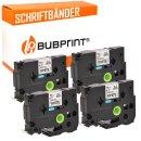 Bubprint 4x Schriftband kompatibel für Brother TZe241 TZe-241 bk/white 18mm SET