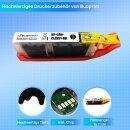Bubprint Druckerpatrone black foto kompatibel für Canon CLI-551 XL mit Chip Pixma IP 7250 MG 6350 5650 MX 725 925