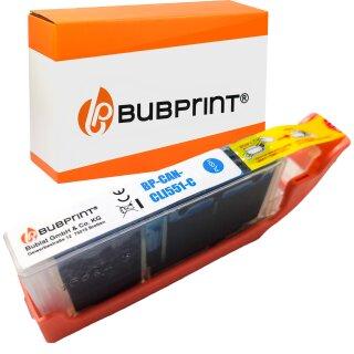 Bubprint Druckerpatrone cyan kompatibel für Canon CLI-551 XL mit Chip Pixma IP 7250 MG 6350 5650 MX 725 925