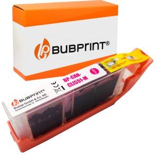 Bubprint Druckerpatrone magenta kompatibel für Canon CLI-551 XL mit Chip Pixma IP 7250 MG 6350 5650 MX 725 925