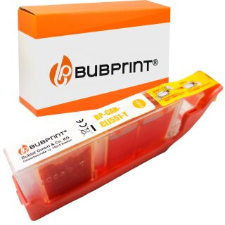 Bubprint Druckerpatrone yellow kompatibel für Canon CLI-551 XL mit Chip Pixma IP 7250 MG 6350 5650 MX 725 925