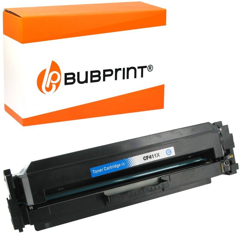 Bubprint Toner kompatibel für HP CF401X CF 401 X (201X) cyan für LaserJet Pro M252dw M252n MFP M274n MFP M277dw MFP M277n