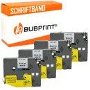 Bubprint 4x Schriftband kompatibel für Brother...