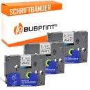 Bubprint 3x Schriftband kompatibel für Brother...