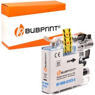 Bubprint Druckerpatrone Cyan kompatibel für Brother LC-123C LC123C LC-125 XL mit CHIP