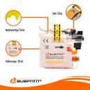 Bubprint Druckerpatrone Yellow kompatibel für Brother LC-123Y LC123Y LC-125 XL mit Chip