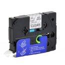 Bubprint 4x Schriftband kompatibel für Brother TZe-131 TZe131 bk/clear 12mm SET
