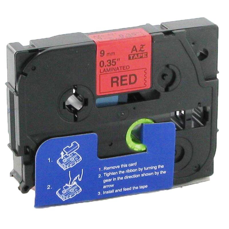 Bubprint Schriftband kompatibel für Brother TZe-421 TZe421 Schwarz auf Rot 9mm 8m