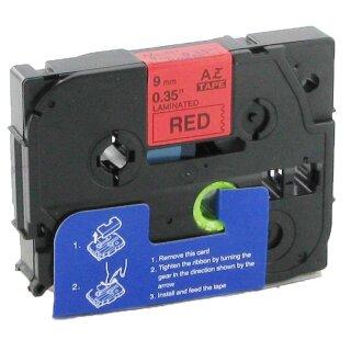 4 Schriftbänder kompatibel zu Brother P-Touch TZE-421 8m//9mm Schwarz auf Rot