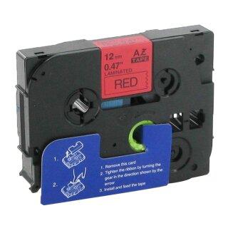 Bubprint Schriftband kompatibel für Brother TZe-431 TZe431 schwarz auf rot 12mm