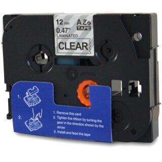 Bubprint Schriftband kompatibel für Brother TZe-131 TZe131 black/clear 12mm 8m