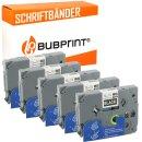 Bubprint 5x Schriftband kompatibel für Brother...