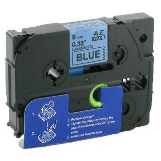 Bubprint Schriftband kompatibel für Brother TZe-521 TZe521 schwarz auf blau 9mm