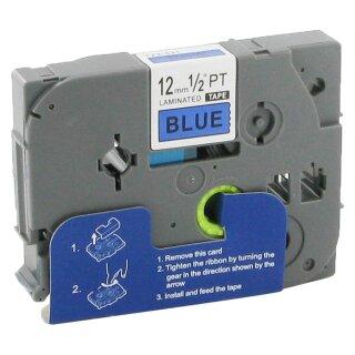 Bubprint Schriftband kompatibel für Brother TZe-531 TZe531 schwarz auf blau 12mm