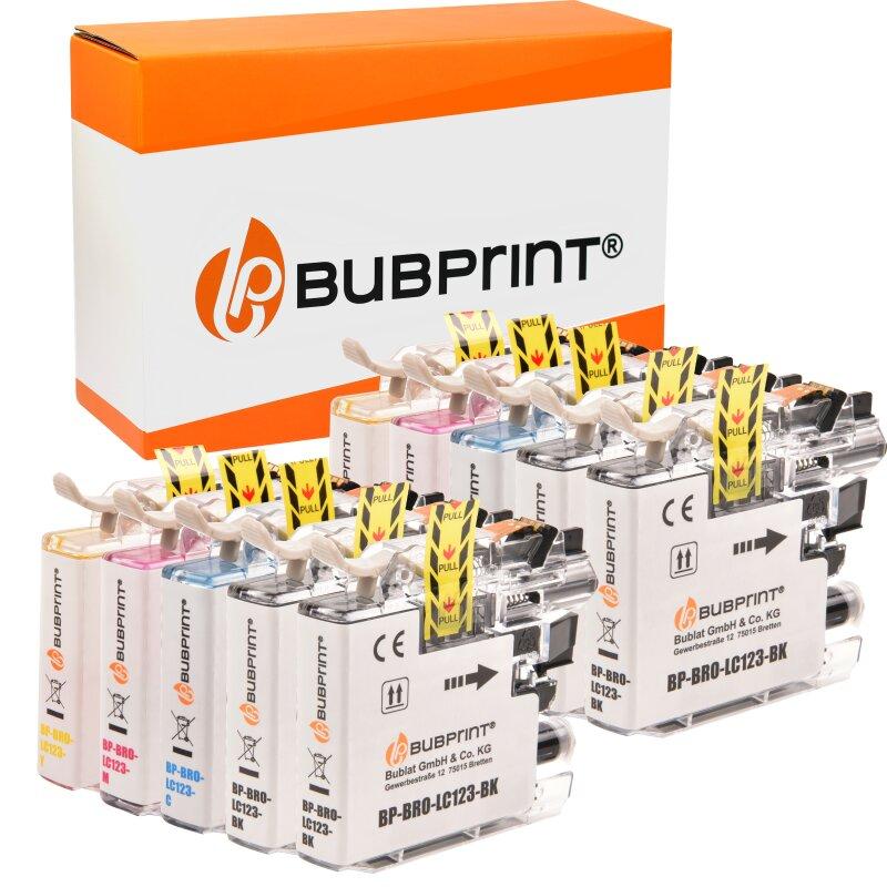 Bubprint 10 Druckerpatronen kompatibel für Brother LC-123 LC123 LC-127 LC-125 XL mit Chip