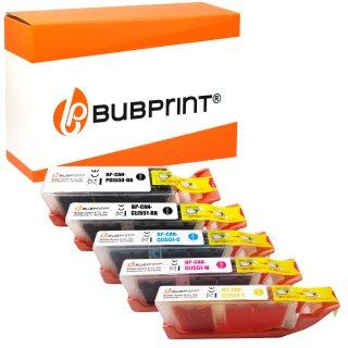 Bubprint 5 Druckerpatronen kompatibel für Canon PGI-550 CLI-551 XL mit Chip für Canon Pixma IP 7250 MG 6350 5650 MX 725 925