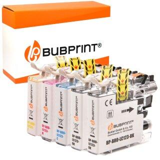 Bubprint 5 Druckerpatronen kompatibel für Brother LC-123 LC123 LC-127 LC-125 XL mit Chip