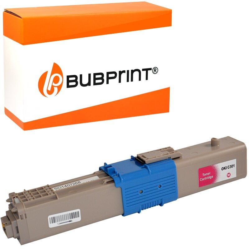 Bubprint Toner magenta kompatibel für OKI C301 C321 MC332 MC342