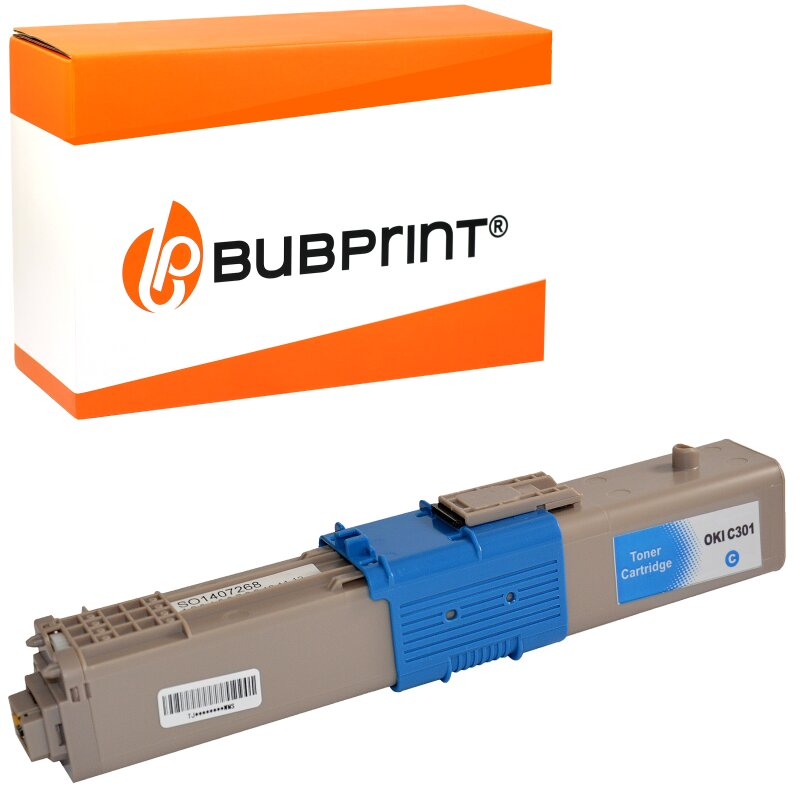 Bubprint Toner cyan kompatibel für OKI C301 C321 MC332 MC342
