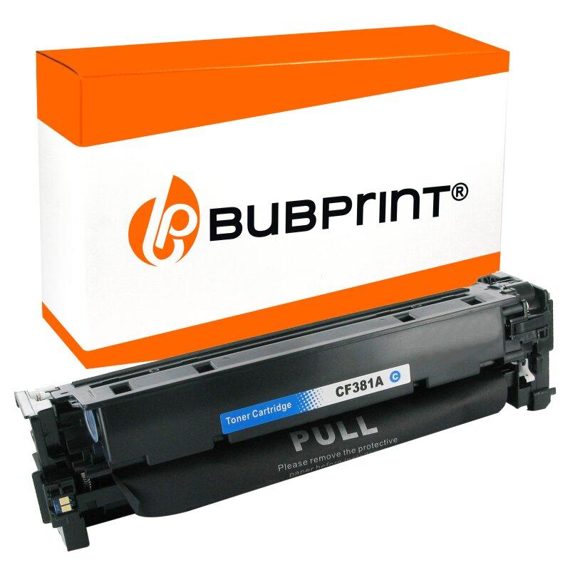 Bubprint Toner kompatibel für HP CF381A / CF312A cyan