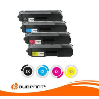 Bubprint 4 Toner kompatibel für Brother TN-326 SET MFC-L 8850 CDW HL-L8350CDW HL-L8250 CDN MFC-L 8650 CDW Black Cyan Magenta Yellow