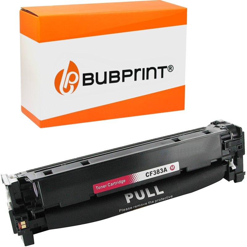 Bubprint Toner kompatibel für HP CF383A / CF312A magenta